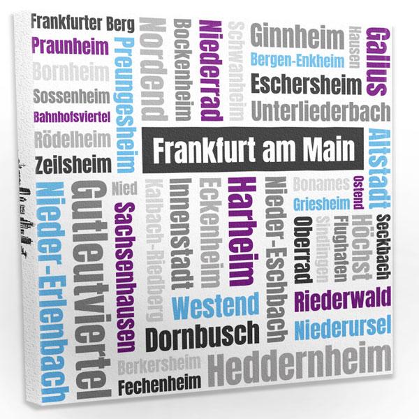 Leinwandbild Frankfurt