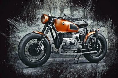 Motorbike Ink Art Bild