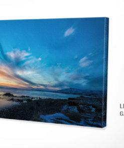 Leinwandbild Sonnenutergang in Island