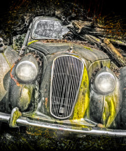 Lost Car Ink Art Bild