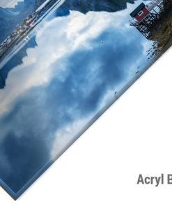 Acryl Bild Norwegen Reine