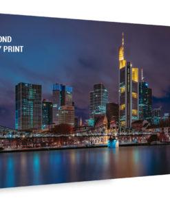 Frankfurt Skyline Alu Dibond Bild